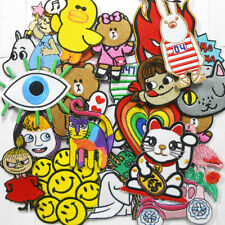 Iron On Patch Mixed Cute Cartoon Lot of 25 Wholesale Sew Embroidered Shirt Cap