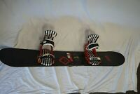Burton Hero Snowboard 152 Cm with Red Burton Cartel Bindings