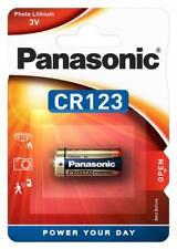 25 x Panasonic CR123 CR17345 CR123A Lithium Photo Batterie 3V im Blister