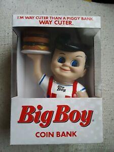 NIB Big Boy Hamburger Restaurant Coin Bank Figure 2020 Advertisement