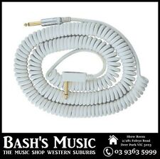 VOX VCC090 White Coiled Guitar Cable 9 Metres with Bag