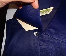 NOS 50's WELGRUME Navy Blue Loop 2 Button Knitted Acetate Pullover! ROCKABILLY L