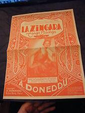 Partition La Zingara A. Doneddu 1959