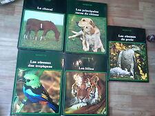 Nature et vie à la découverte d'un monde vivant 5 livres Cheval chiens félins