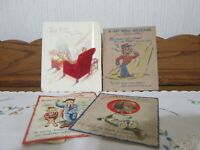 Vintage Lot of 1940s Greeting Cards Get Well, Dad ~ Forget Me Not Card