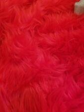 Red Faux Fur High Shag Material*