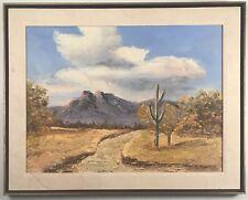 Stunning plein air Arizona desert landscape painting. Signed Ed Roth, dated 1965