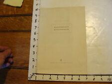 Vintage MARIONETTE item: WESTERMANNS MONATSHEFTE sonderdruck 11 pages