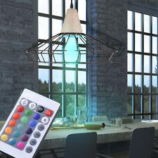 LED ess Plafond de salle Lampe pendant Variateur métal cage Lumière RGB