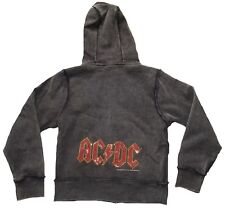 Amplified AC/Dc Rhinestone Kids Rock Star Vip Hooded Sweater Hoodie Zip Jacket