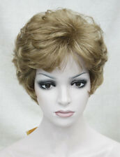 Ladies wigs Short Curly Women Natural Daily Hair fancy dress cosplay + wig cap