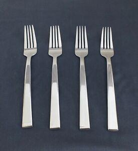 DANSK stainless MERIDIAN, 4 dinner forks, Shiny & bright! LotAe1