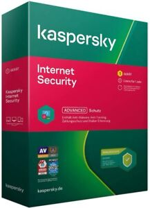 Kaspersky Internet Security 2021 1 PC 1 Gerät / 1 Jahr NEU  per E-Mail