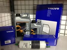 Genuine Volvo Oil Filter Air Filter Fuel Filter Sump Washer And 5 Liters Of 0w20