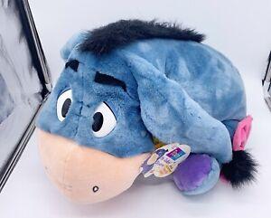 Fisher Price Large Plush Talking Eeyore Stuffed Animal Disney Mattel Blue NWT
