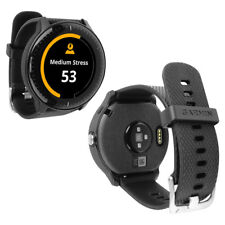 Skinomi TechSkin Brushed Steel & Screen Protector for Garmin Vivoactive 3 Music