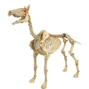 """54"""" Standing Halloween Skeleton Pony prop (New in box)"""