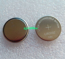2 x New 3.6V Rechargeable LIR2032 Battery Coin Cell Button Li-ion Replace CR2032