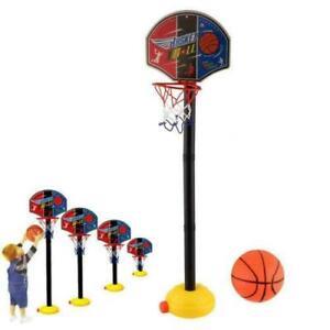 Portable Kids Basketball Stand Set Basket Hoop Backboard Net with Ball PumpBū