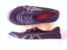 ASICS METO WALK BLACK CASUAL SHOES SIZE: 6US/37EUR GC