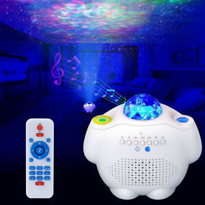 LED Galaxy Star Projector Night Light Starry Ocean Wave Lamp Party with Remote