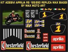 ADESIVI stickers moto KIT per APRILIA RS 125 replica MAX BIAGGI Chesterfield