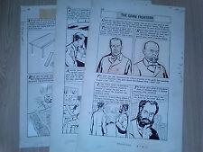 Tallarico WORLD AROUND US #36 FIGHT FOR LIFE 3 Page Lot ORIGINAL COMIC ART 1961