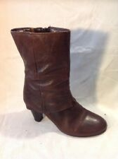 Clarks Brown Mid Calf Leather Boots Size 5D