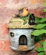 Garden Ornament Bird Box Robin Nesting Nest Birdbox Hanging Bird House