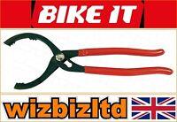 Bike It Filtro Olio Pinze 30.5cm [130mm Massimo Apertura] [ Per Più Moto Filtri]