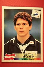 PANINI WC WM FRANCE 98 1998 N. 147 OSTERREICH KUHBAUER WITH BLACK BACK MINT!!
