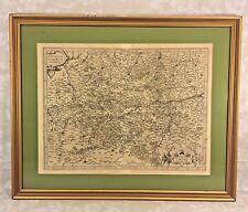 Gerard Mercator 16th C Antique Map of Regional Germany Hannonia Namurcum Comitat