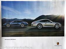 Porsche Poster 911 Carrera S 991   Reprint 2013  Größe: 76,3 x 101,4 cm