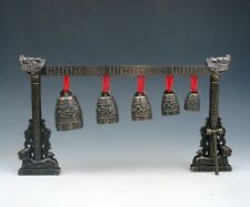 "10"" Set Metal Dragon Arch Chinese FENG SHUI Chime Bells Gongs Home Decor NEW"
