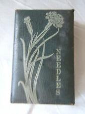 Antique Vintage Sewing Needle Case Foldout Pat. 1914 Paper Leatherette ~ England