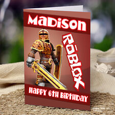 EXTRA LARGE Roblox **Personalised A4 Birthday Card** FAST Shipping Any Name/Age