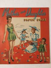 Vintage Original Mother and Daughter Paper Dolls by M. Bauer
