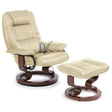 Drive Napoli Heat Massage Chair Armchair Swivel Recliner Faux Leather Mobility