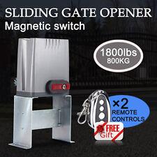 1800LBS SLIDING GATE OPENER REMOTE KIT DOOR MOTOR AUTOMATIC W/ KEY ELECTRIC