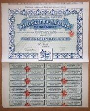 Madagascar & Paris  - Déco Cie Coloniale Fçse d'Elevage & d'Alimentation de 1911