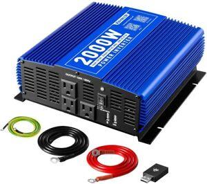 Kinverch 2000W Power Inverter  DC12V/AC 110V Wireless APP Remote Control