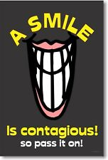 A Smile Is Contagious! - School Classroom Motivational Poster