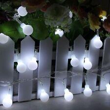 Indoor Outdoor LED Night Starry Light Ball Bulbs Fairy String Lights Globe Lamp