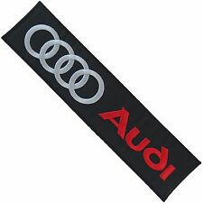AUDI Embroidered Patch Embroidery Emblem Mark 236x55mm Black - Big Large Size