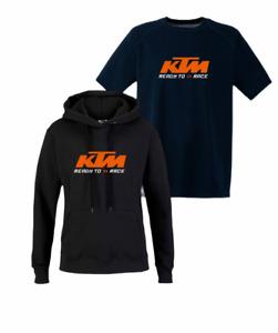 KTM Ready To Race Biker Motorcycle Hoodie  / T-Shirt Inspired Racing Bike Cycle