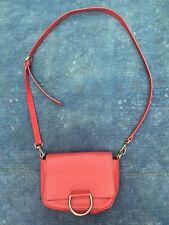 46d990c6dbb ZARA Basic Cross body Small Shoulder Bag Red Leather Purse Clutch Option