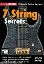 Bibliothèque lécher Sam Bell 7 cordes secrets apprendre à jouer METAL BROYER Guitare Rock DVD