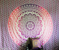 Large Indian Ombre Mandala Tapestry Hippie Wall Hanging Bedspread Blanket Throw Purple WMT 100 Cotton