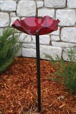 Birds Choice Aap214 Pole Mounted Red Acrylic Bird Bath