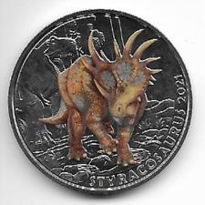 Österreich 3 Euro Dino-Taler Styracosaurus 2021 hgh Tier Taler